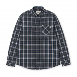 Camisa carhartt Leroy LS Shirt Leroy check / Black Heather