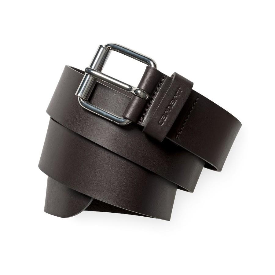 Cinturon Carhartt Script Belt  Leather Tobacco / Silver