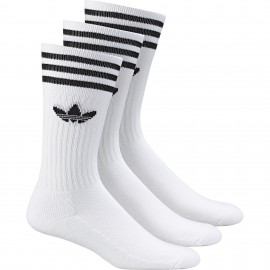 Calcetines Adidas Solid Crew Sock White 3 Pack