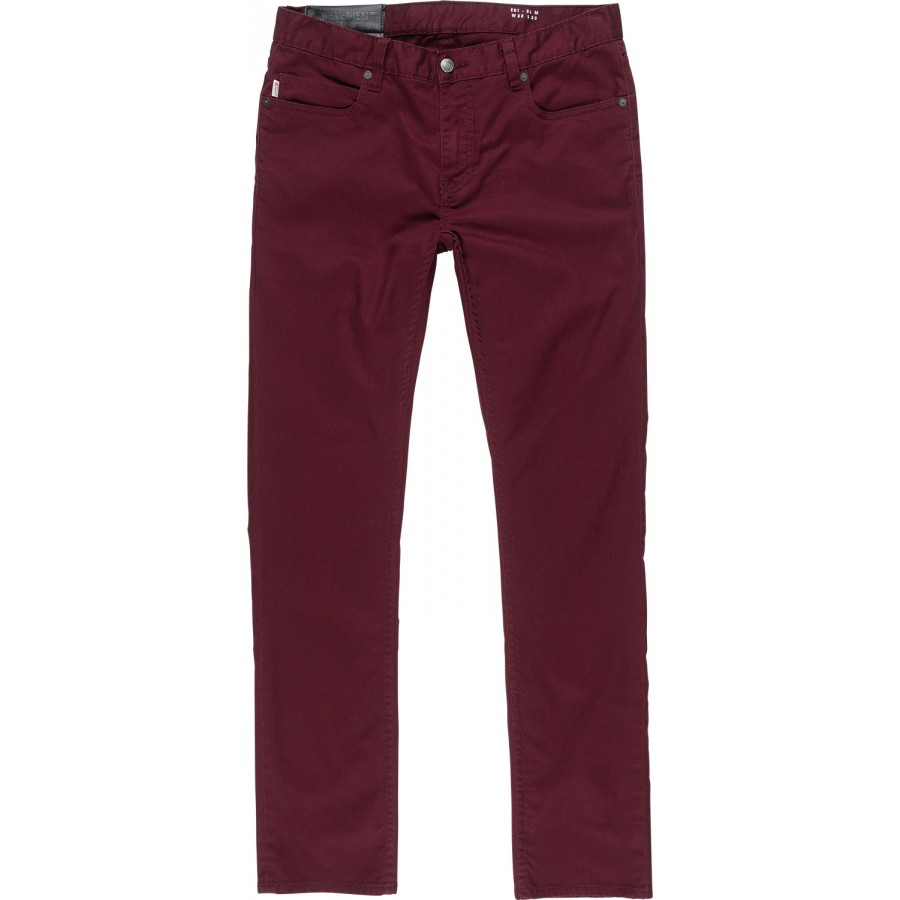 Pantalon Element E01 Color Slim Jeans Napa Red