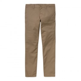 Pantalon Carhartt Sid Pant Leather Rinsed
