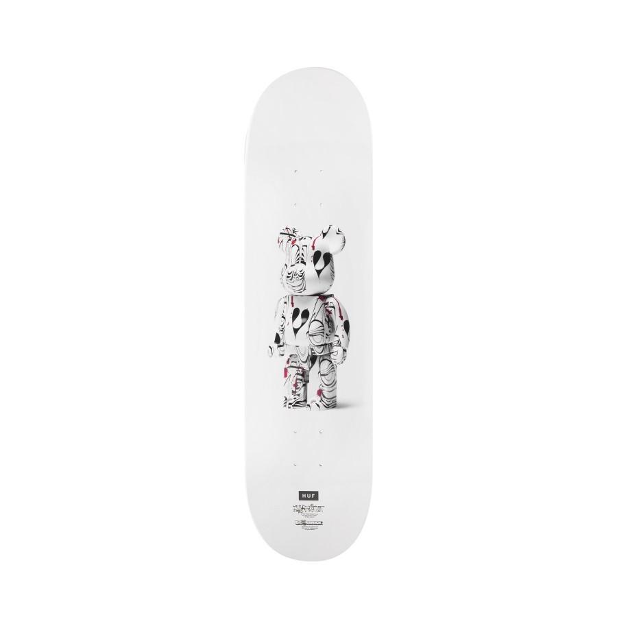 Tabla Skate HUF Phil Frost x Bearbrick Deck White