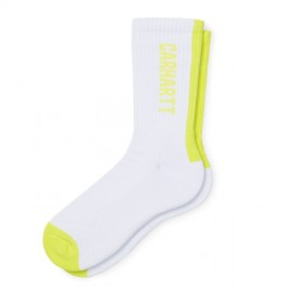 Calcetines Carhartt Turner Socks White / Lime