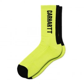 Calcetines Carhartt Turner Socks Lime / Black