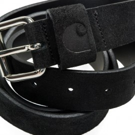 Cinturon Carhartt C-Logo Belt Cow Leather Black/Silver