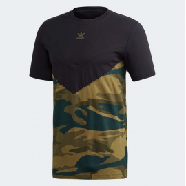 Camiseta Adidas Camo Block Tee Black / Multicolor Camo