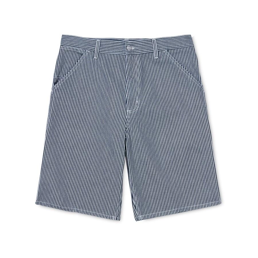 Bermuda Carhartt Single Knee Short Blue White Rinsed