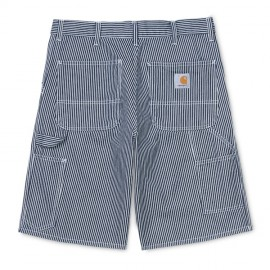 Bermuda Carhartt Single Knee Short Blue White Rinsed