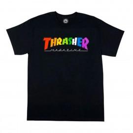 Camiseta Thrahser Rainbow Tee SS Black