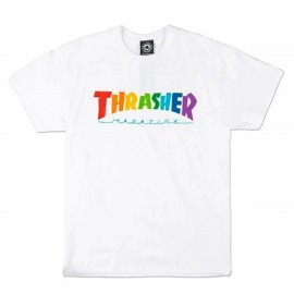 Camiseta Thrahser Rainbow Tee SS White