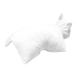 Cojin Ripndip Lord Nermal Pillow Pet White