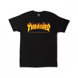 Camiseta Thrasher Flame Logo Tee Black